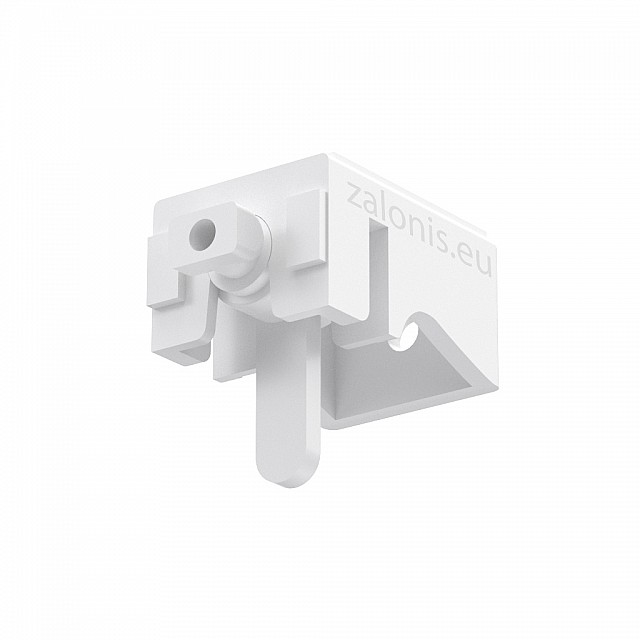 LEVERLOCK CURTAIN RAIL BRACKET / WHITE / SMALL